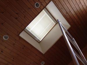 天窓ブラインド修理完了