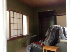 和室の壁の汚れ、変色