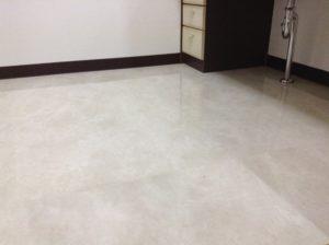 洗面脱衣室の床リフォーム