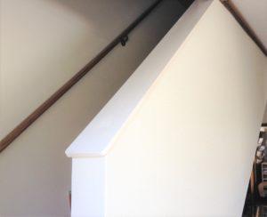 階段の笠木を新設