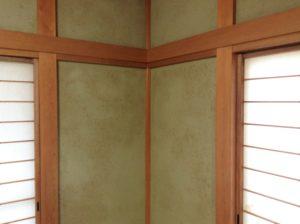 和室のじゅらく壁