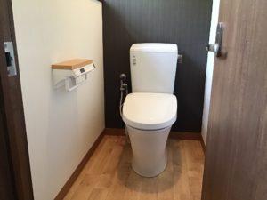 モダンにトイレのリフォーム