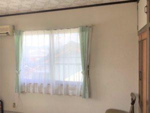 スッキリとしたカーテン