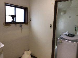 洗面脱衣室のリフォーム工事施工前