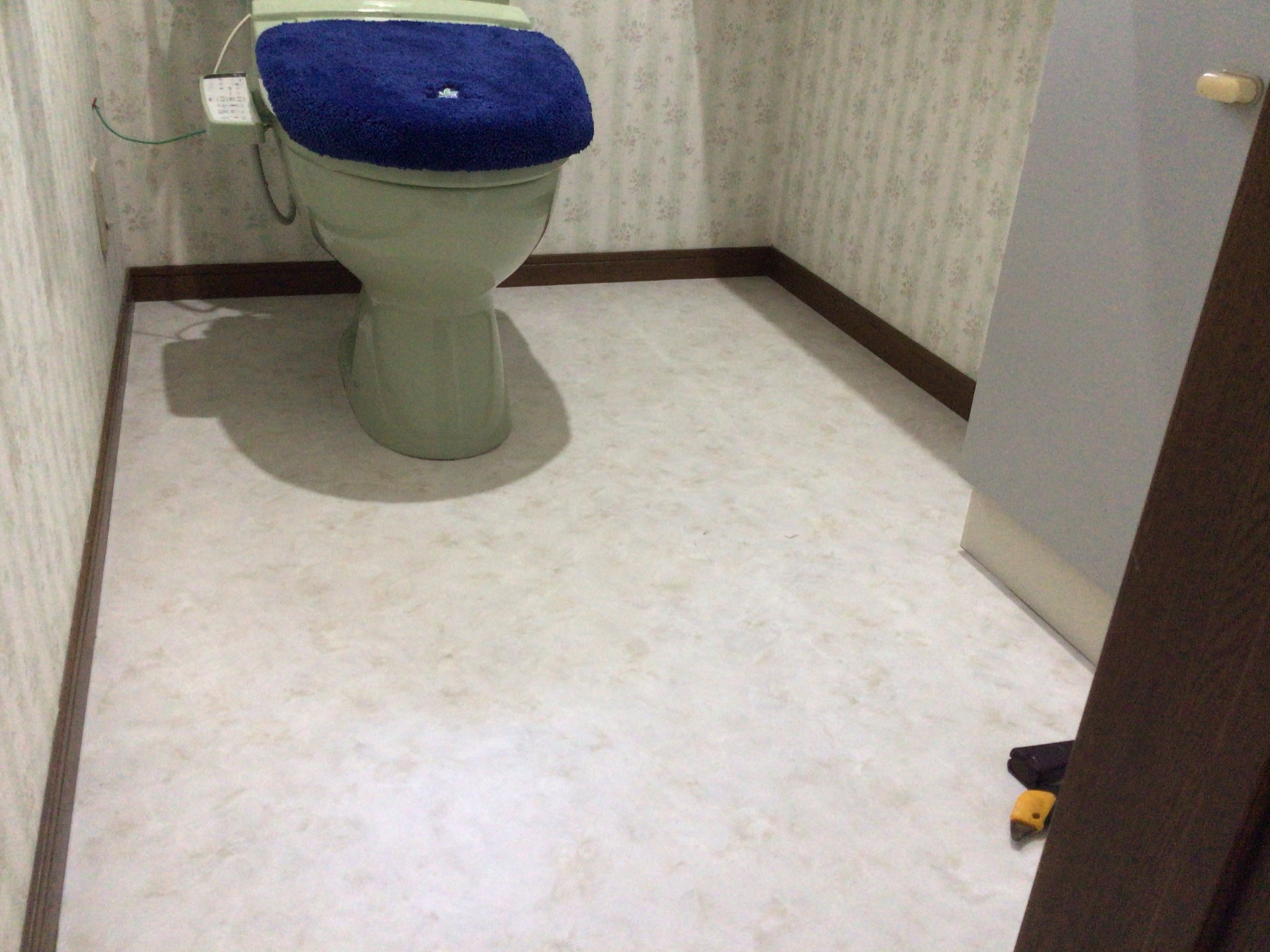 トイレ床のリフォーム完了
