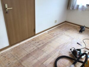 床のリフォーム工事