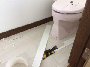 トイレの貼替えリフォーム